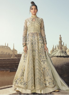 Net Grey Designer Long Lehenga Choli