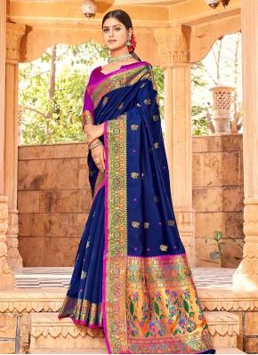 Nice Blue Traditional Saree