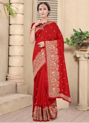 Nice Embroidered Festival Traditional Designer Saree