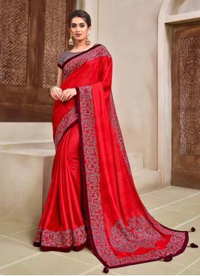 Nice Georgette Ceremonial Designer Traditional Saree