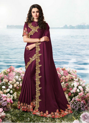 Nice Resham Satin Silk Classic Saree