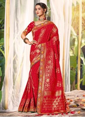 Nice Silk Red Classic Saree
