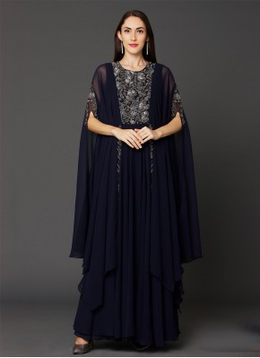 Noble Embroidered Jacket Style Salwar Suit