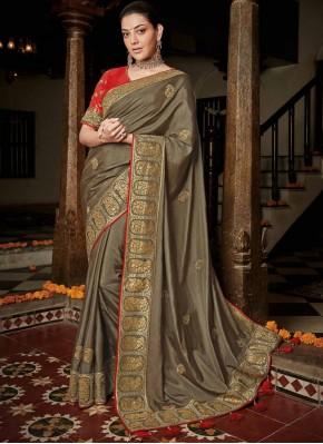 Observable Gold Trendy Saree