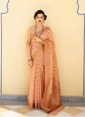 Observable Thread woven Chanderi silk Classic Saree