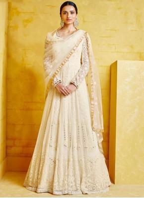 Off White Color Designer Salwar Kameez
