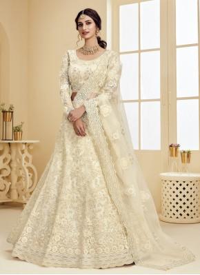 Off White Color Lehenga Choli