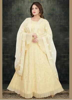 Off White Wedding Anarkali Suit