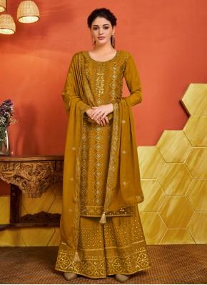 Opulent Fancy Faux Chiffon Designer Palazzo Salwar Suit