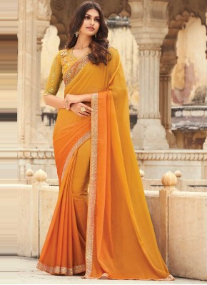 Orange Festival Shaded Saree