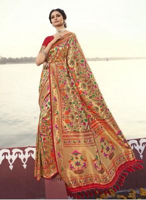 Orphic Banarasi Silk Weaving Traditional Designer Saree