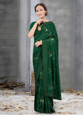 Orphic Silk Green Traditional Designer Saree