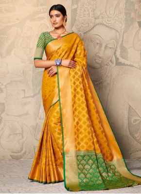 Orphic Yellow Festival Trendy Saree