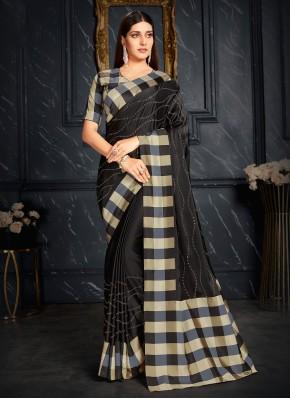 Outstanding Fancy Black Classic Designer Saree