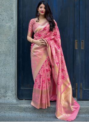 Paramount Pink Traditional Designer Saree