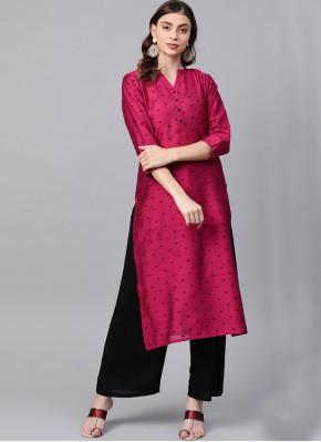 Party Wear Kurti Fancy Silk in Pink