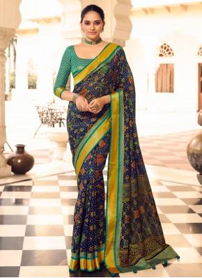 Patola Silk  Traditional Designer Saree in Blue