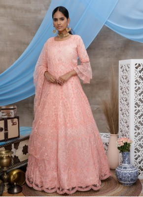 Peach Ceremonial Designer Gown