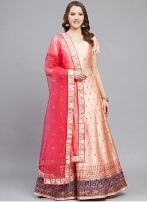 Peach Color Bollywood Lehenga Choli