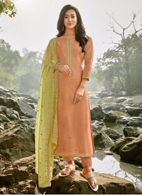Peach Color Trendy Salwar Suit