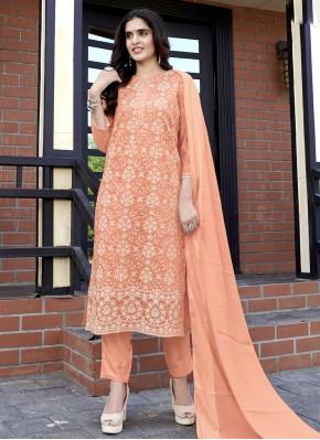 Peach Fancy Fabric Festival Readymade Suit