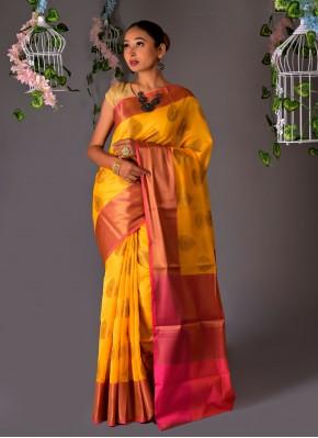 Peppy Yellow Classic Saree