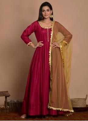 Perfect Art Silk Anarkali Salwar Kameez