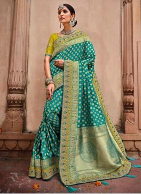 Perfect Rama Resham Designer Saree