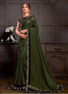 Perfervid Silk Green Designer Saree