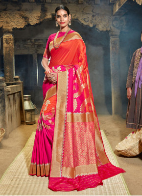 Perfervid Weaving Party Half N Half Trendy Saree