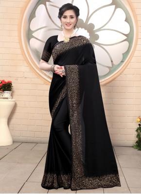 Picturesque Black Fancy Classic Saree