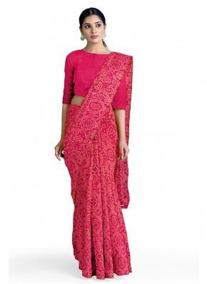 Pink Casual Casual Saree