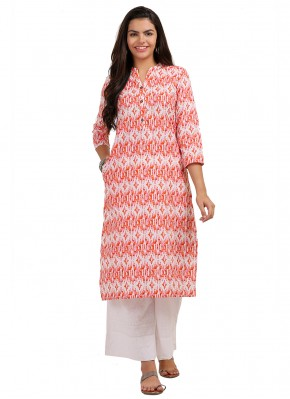 Pink Color Party Wear Kurti