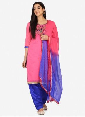 Pink Color Patiala Suit