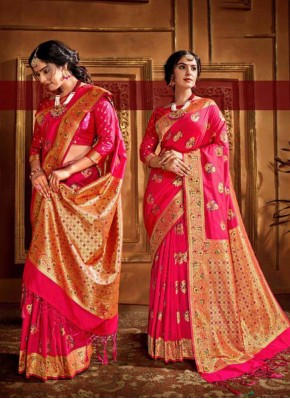 Pink Color Traditional Designer Saree