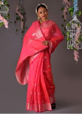 Pink Color Traditional Designer Saree