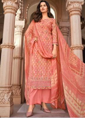 Pink Digital Print Festival Designer Palazzo Salwar Suit