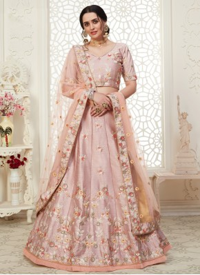 Pink Embroidered Bollywood Lehenga Choli