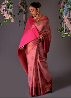Pink Fancy Chanderi Cotton Classic Saree