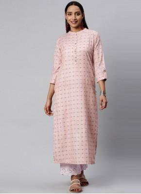 Pink Fancy Festival Party Wear Kurti