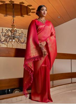 Pink Fancy Wedding Traditional Saree