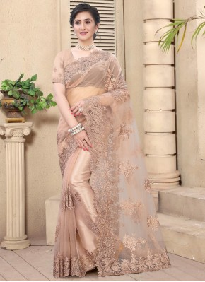 Pink Festival Net Designer Saree
