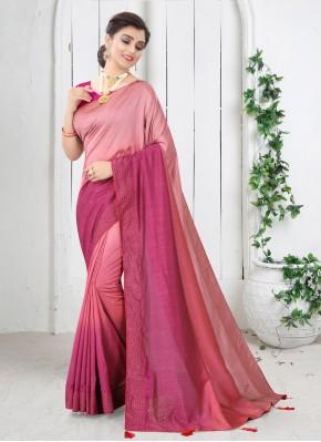 Pink Festival Shaded Saree