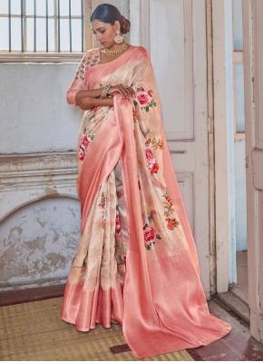 Pink Festival Silk Classic Designer Saree