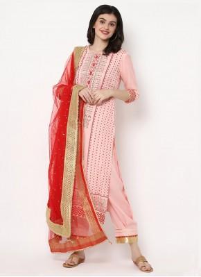 Pink Festival Trendy Salwar Kameez