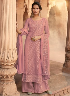 Pink Georgette Party Designer Pakistani Salwar Suit