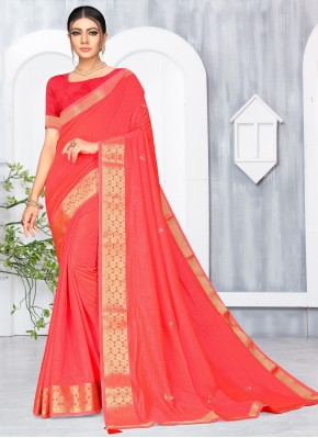 Pink Lace Designer Saree