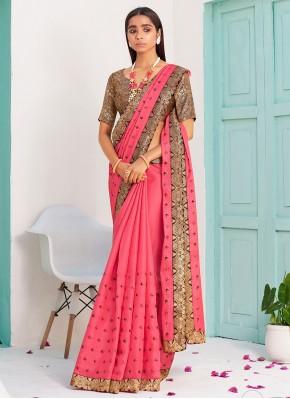 Pink Lace Designer Traditional Saree