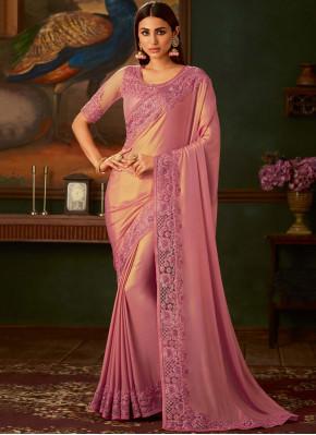 Pink Reception Trendy Saree