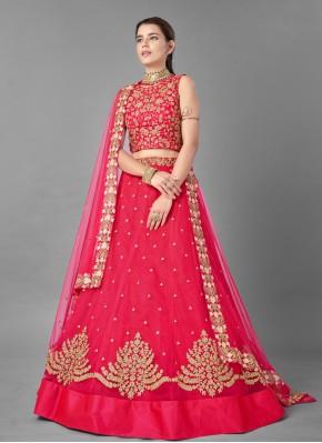 Pink Thread Sangeet Lehenga Choli
